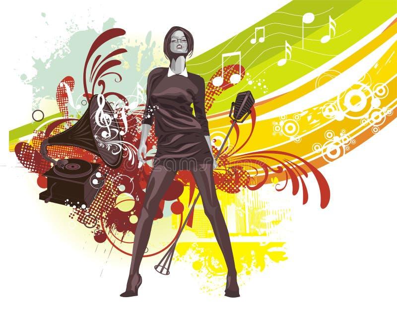 Musique-fond illustration stock