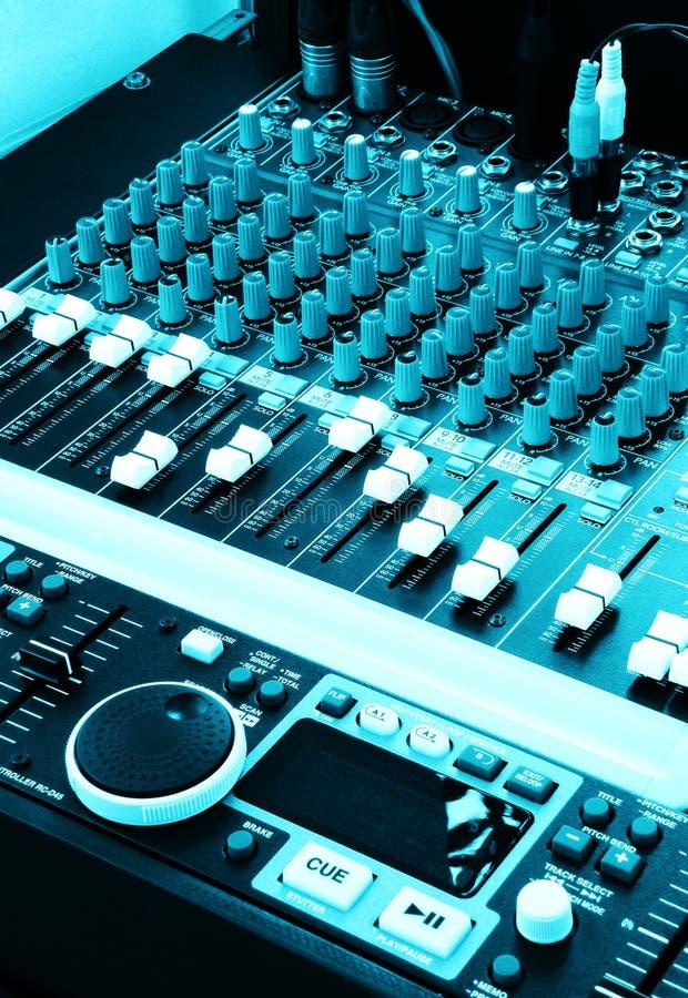 musique graphique de mélangeurs de palonniers du DJ images libres de droits