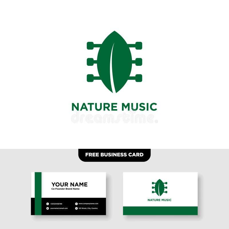 Musique Logo Template de nature illustration stock