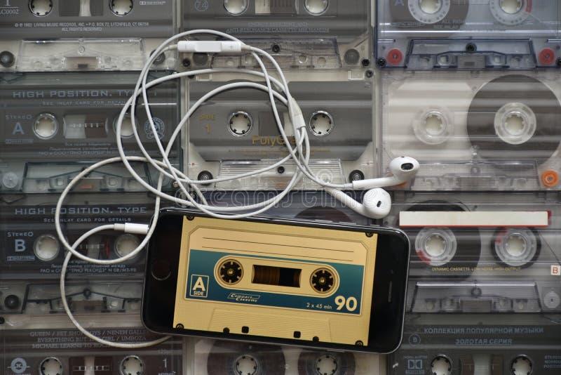 Musique - numérique et analogue images stock