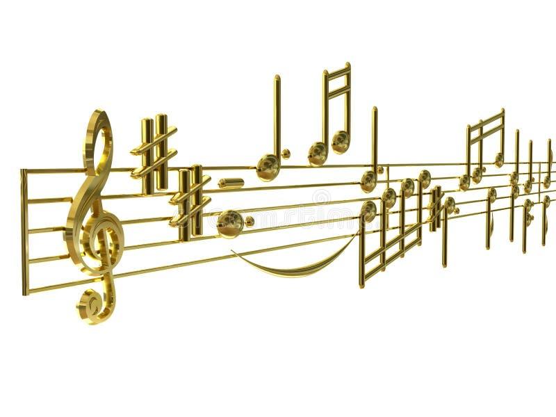 Musique portée illustration libre de droits