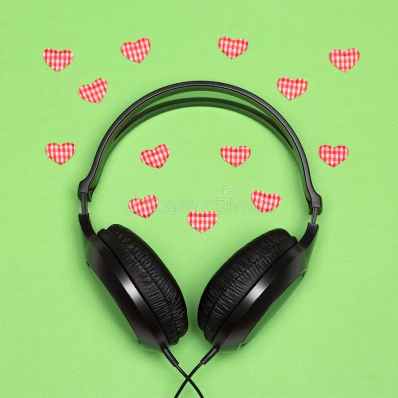 Musique pour le concept enamouré image stock