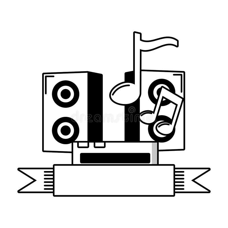 Musique saine de haut-parleur illustration de vecteur
