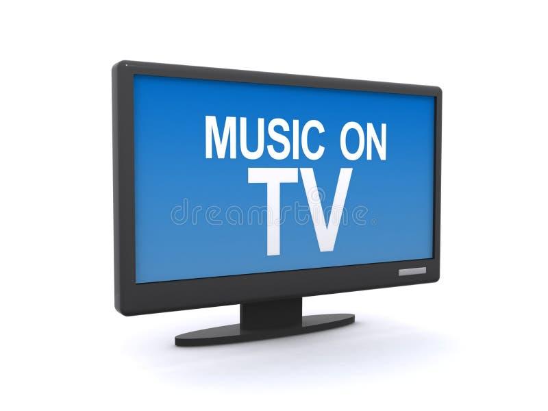 Musique sur le signe de TV photo stock