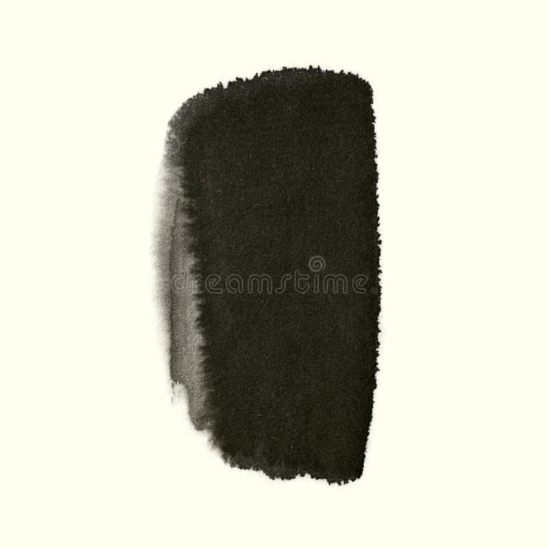 Muska Chińskiego atrament farby muśnięcie odizolowywającego na białym tle zdjęcie royalty free