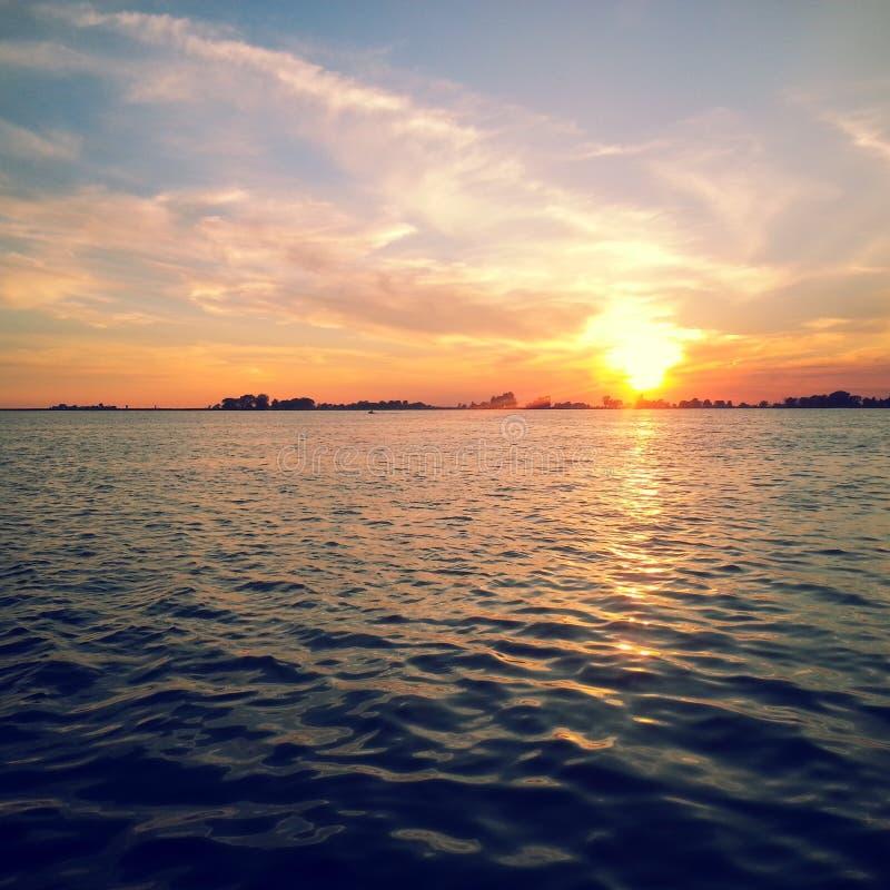 Muskamoot zatoki zmierzch fotografia stock