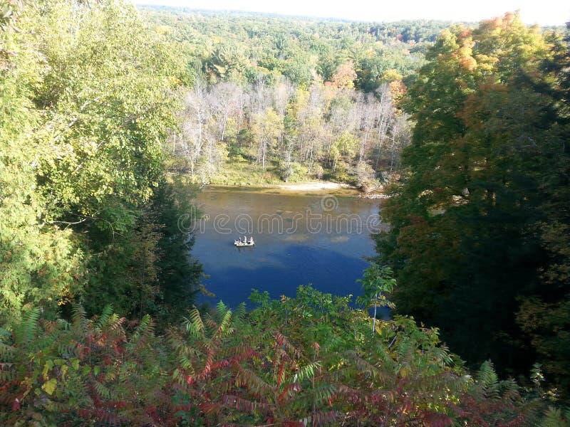 Muskegon-Fluss lizenzfreies stockbild