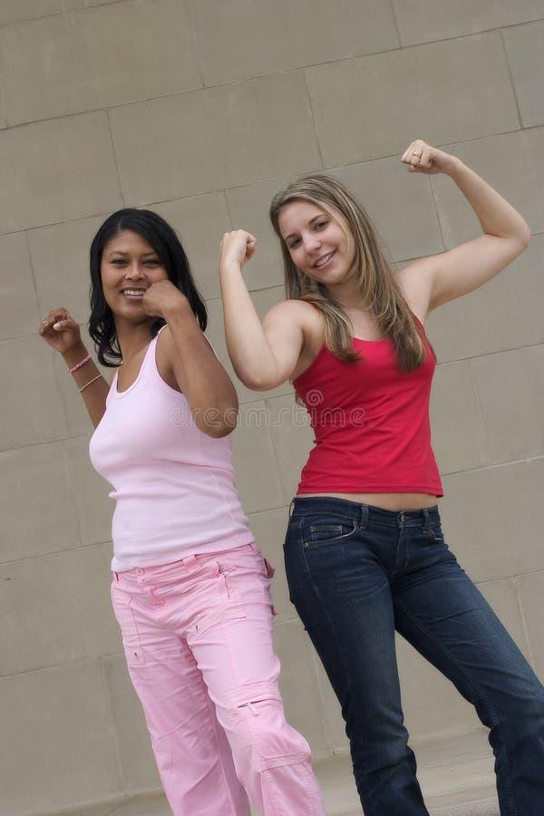 Muskel-Mädchen stockbilder