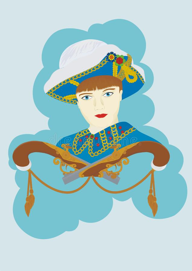 Download Musketeer stock vector. Illustration of jewelry, woman - 13744117