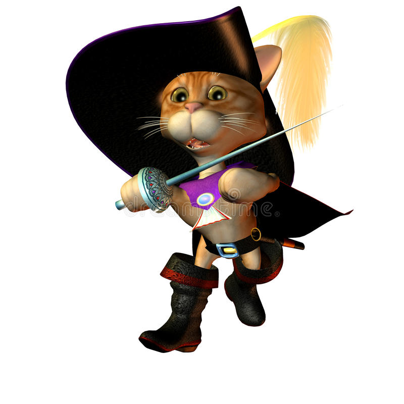 Download Musketeer Tomcat  In The Offensive Stock Illustration - Image: 15869573