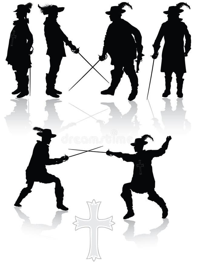 musketeers королевские иллюстрация вектора