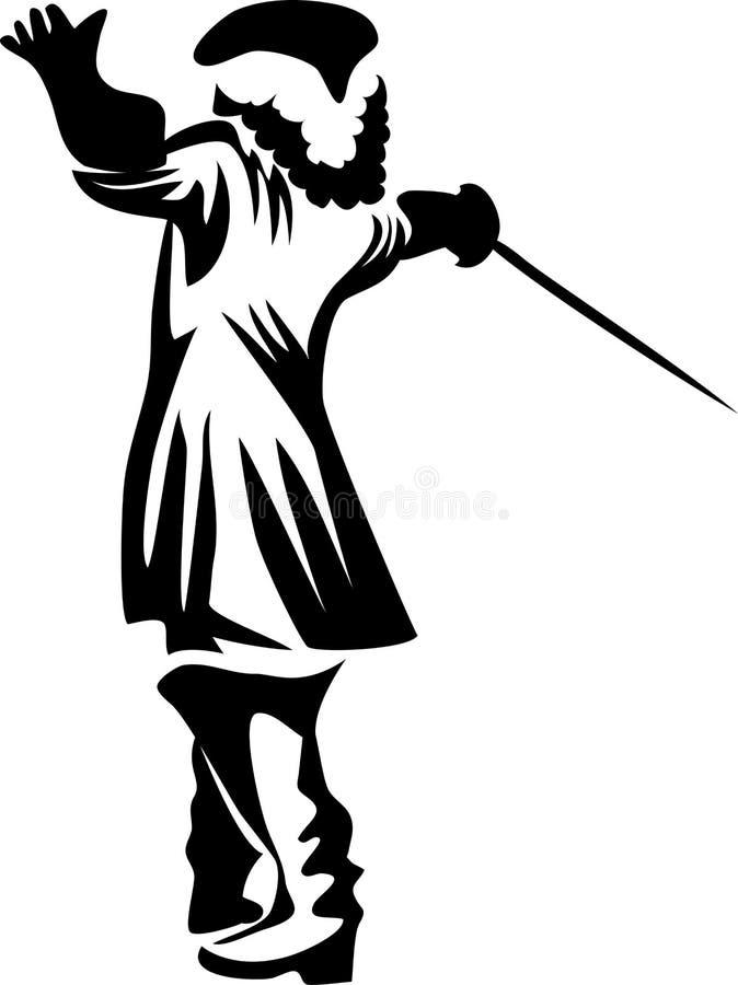 musketier vector illustratie