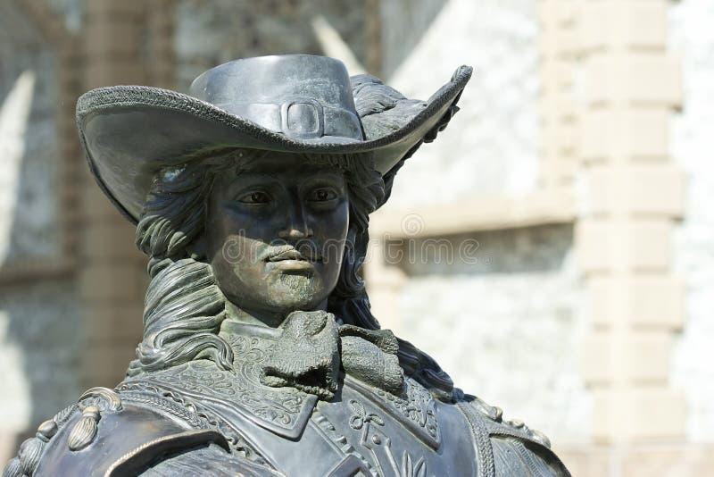 Musketierstandbeeld stock fotografie