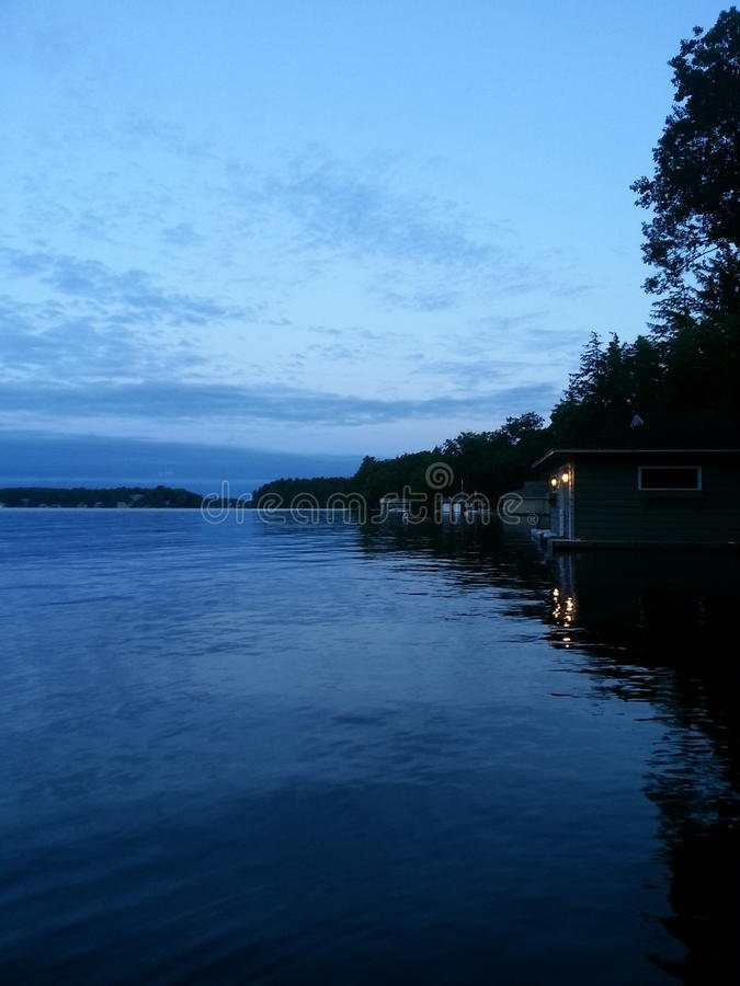 Muskoka del lago immagine stock libera da diritti