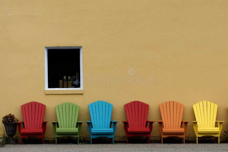 Muskoka krzesła w colour zdjęcie royalty free