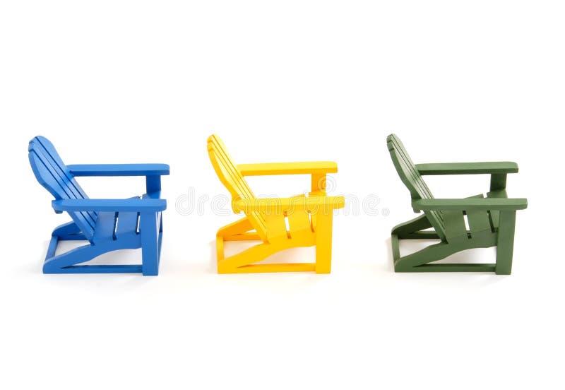 Muskoka Stühle stockbild