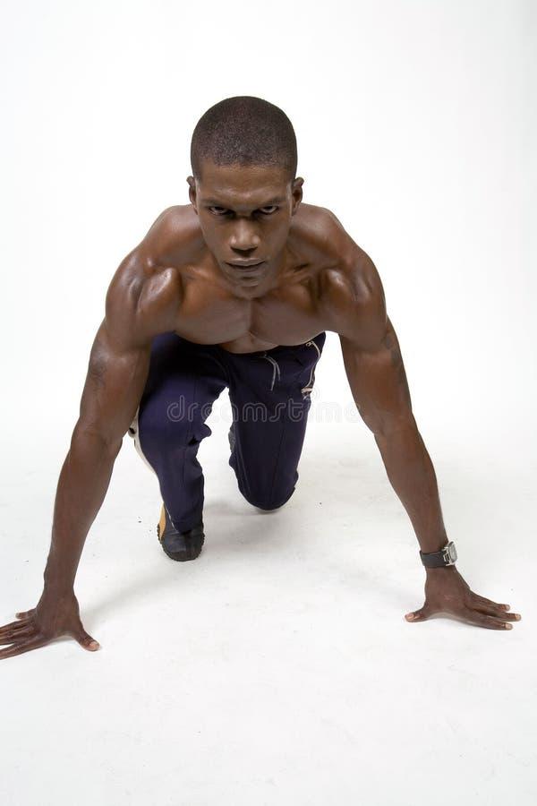 muskulös idrottsman nen royaltyfria foton