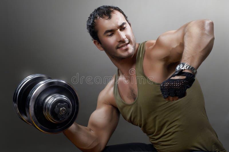 muskulös man arkivfoton