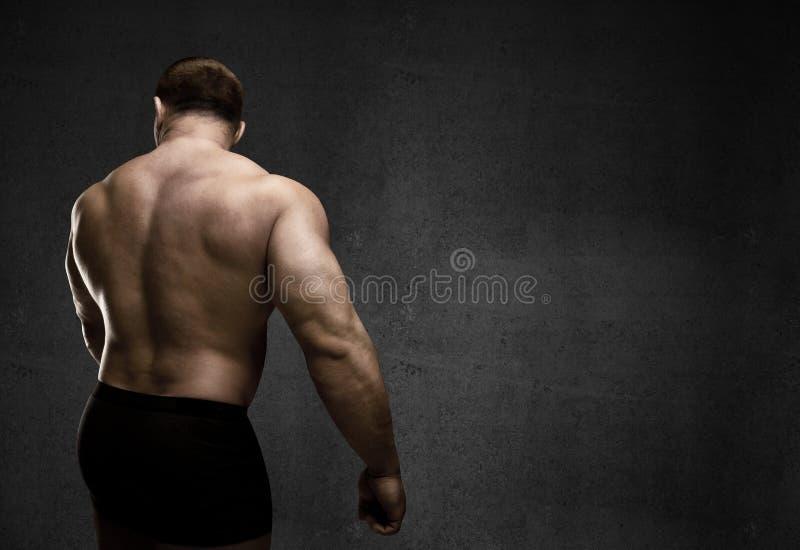 Muskulös man royaltyfri bild