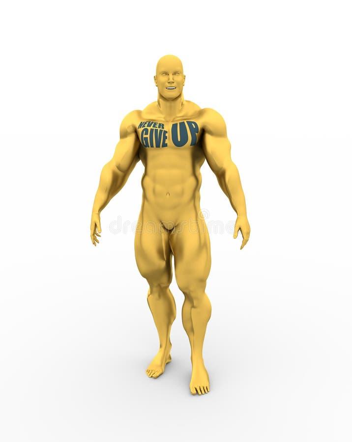 Muskulös man som bara står vektor illustrationer