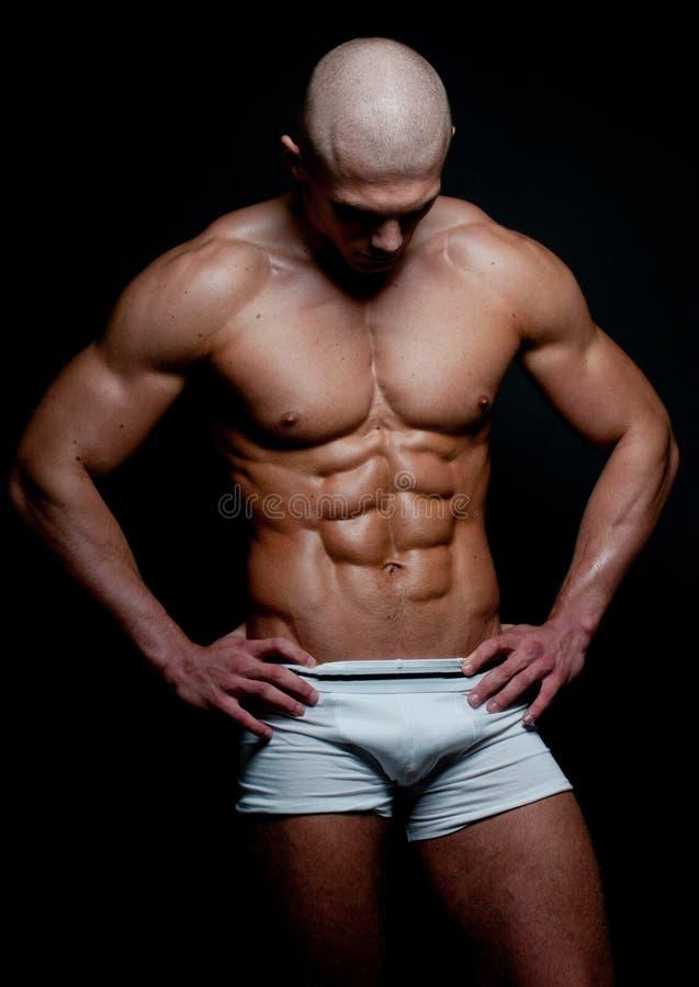 Muskulös modell royaltyfri foto