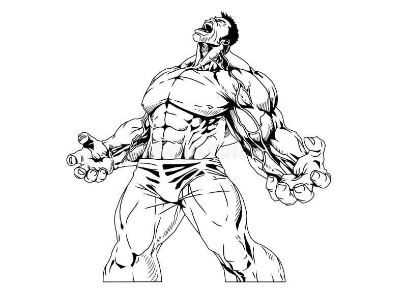 Muskulös Torso royaltyfri illustrationer