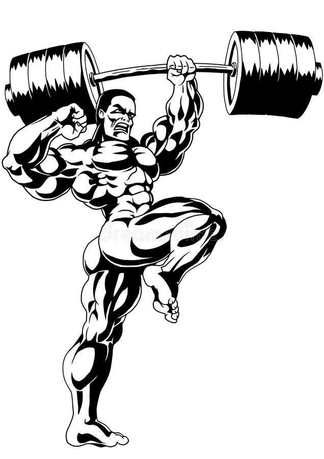 Muskulöser Bodybuilder vektor abbildung