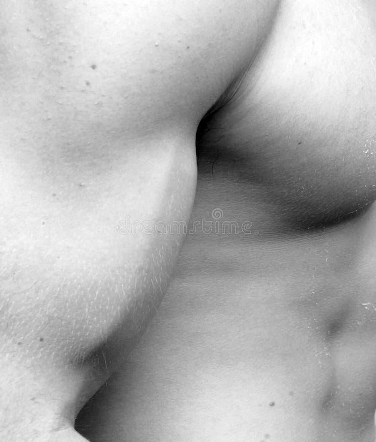 Muskulöser Mann - Bicep lizenzfreies stockbild