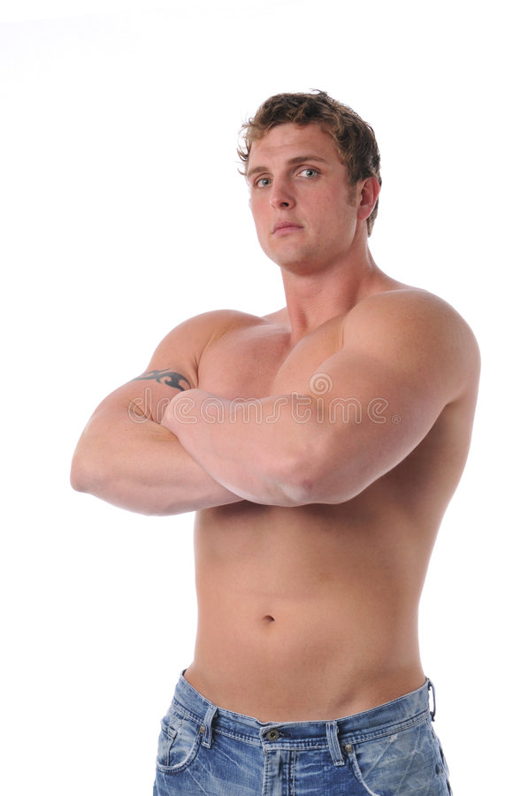 Muskulöser Torso des jungen Mannes lizenzfreie stockbilder