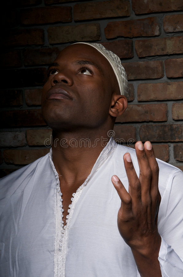 muslim молит стоковое фото rf