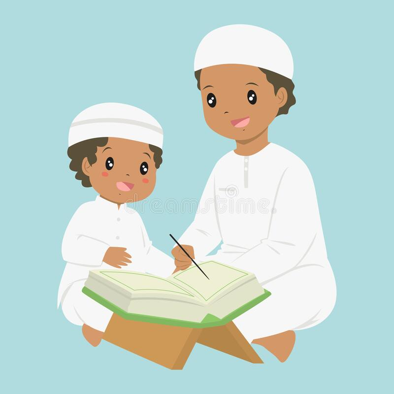 Best HD Cartoon People Reading Quran Vector Cdr » Free Vector Art, Images,  Graphics & Clipart
