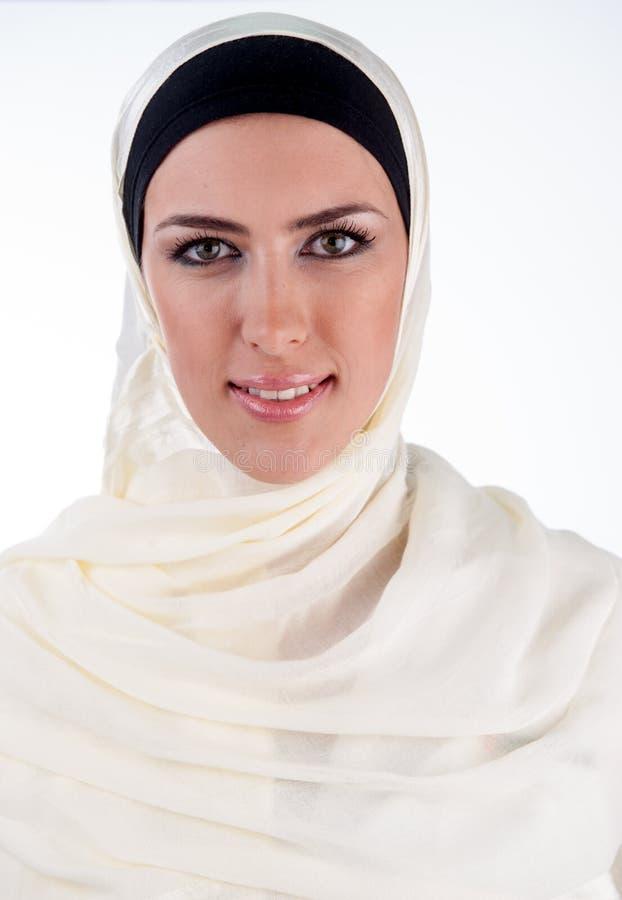 Muslim Arabic woman portrait smily royalty free stock photos