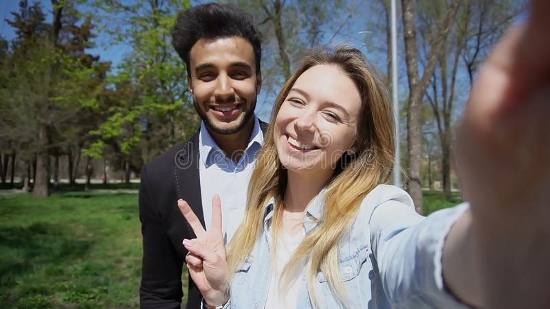 Muslim boy and young girl applied to registry office and calls t stock images