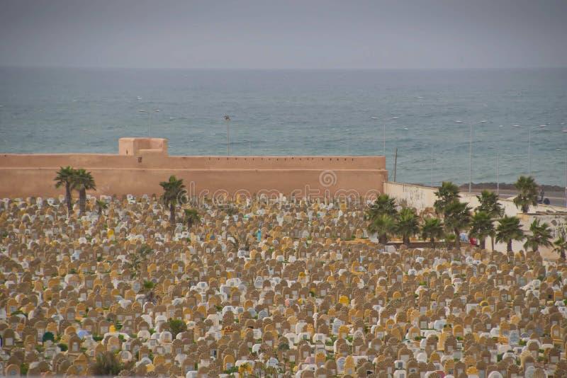 Muslim cemetery graves. Rabat, Morocco stock photography