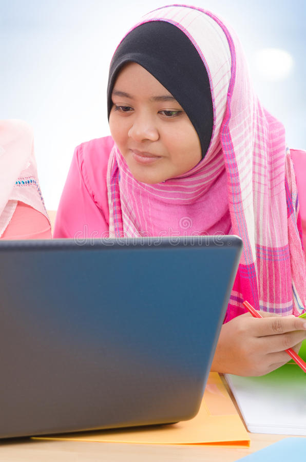 Download Muslim College Girls Royalty Free Stock Photography - Image: 28983407