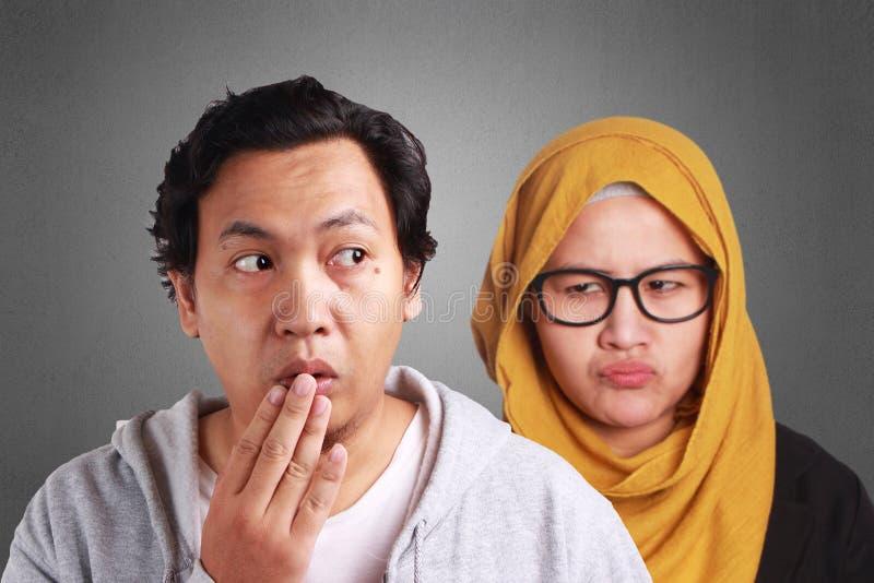 Muslim Couple Having Problem stock photography