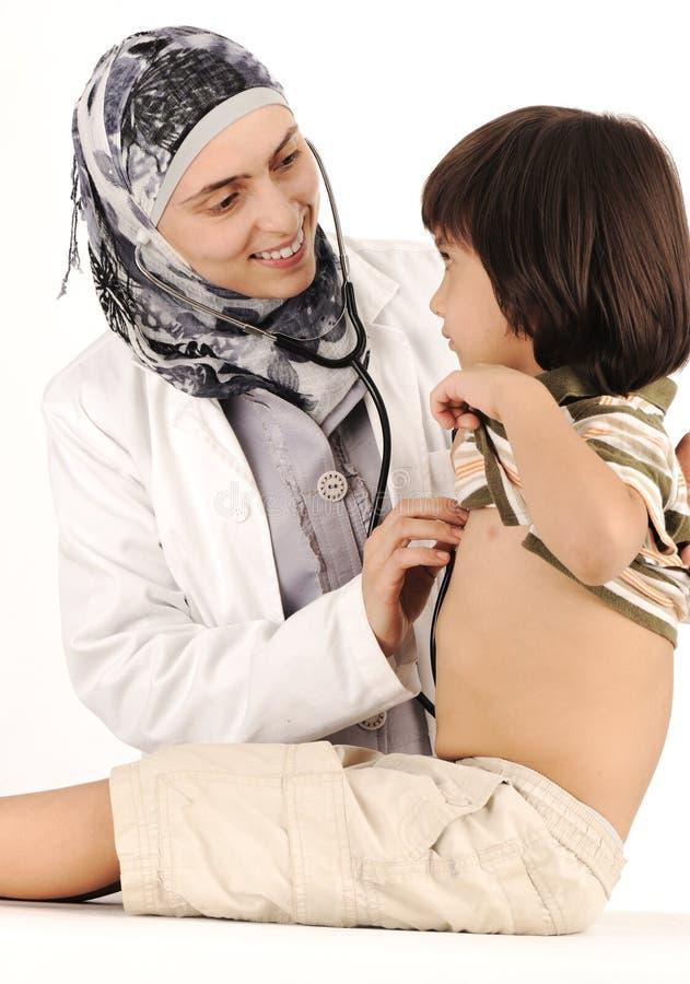 muslim för doktorskvinnligsjukhus arkivfoto