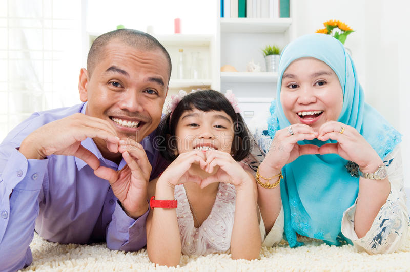 Muslim family stock photos