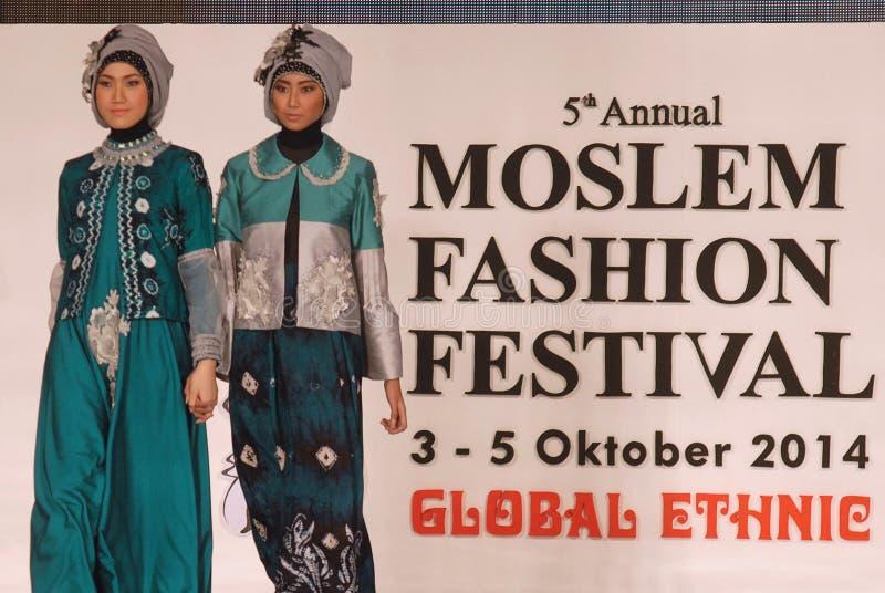 Muslim Fashion Festival 2014 royalty free stock photos