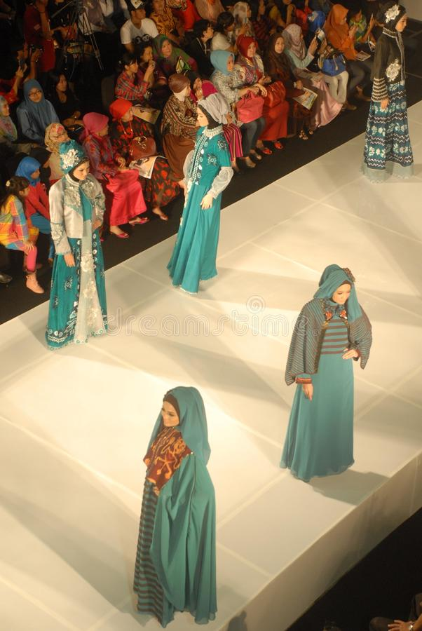 Muslim Fashion Festival 2014 stock photo