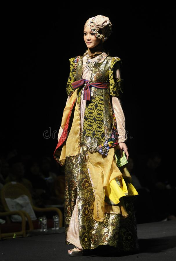 Muslim Fashion Week in Indonesia royalty free stock photo