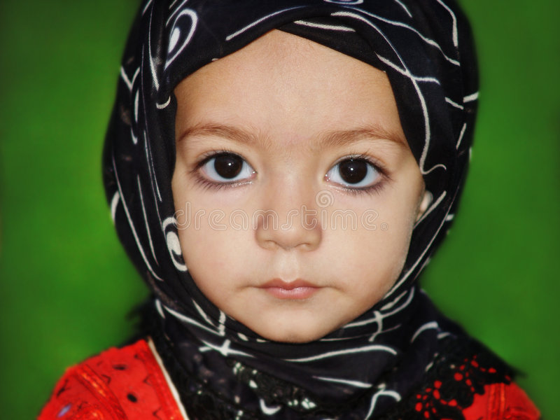 Download Muslim Girl stock photo. Image of inquisitive, dress, childhood - 4464322