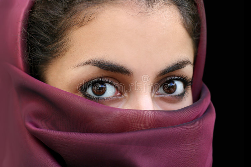 Muslim girl. Portrait of a young arab girl in a scarf