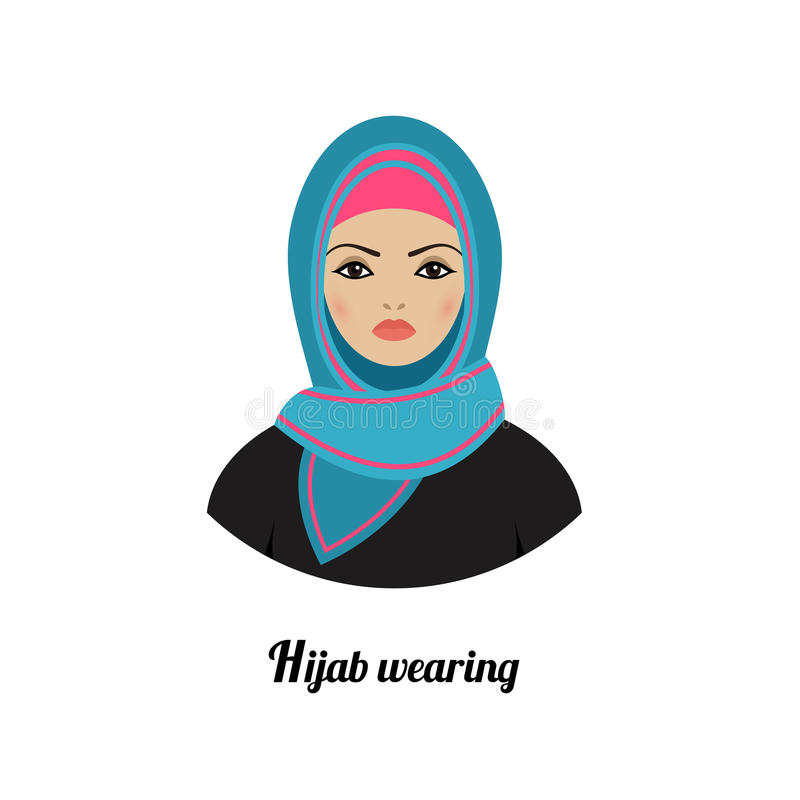 Muslim Girl Avatar Asian Muslim Traditional Hijab Wearing Stock Vector - Image 62444492-8865
