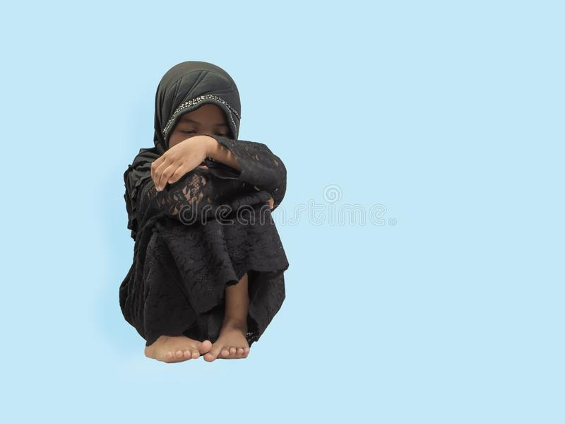 Muslim Girl in a dress , isolate background royalty free stock images