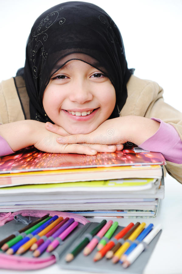 Download Muslim girl learning stock image. Image of natural, lifestyle - 22278985