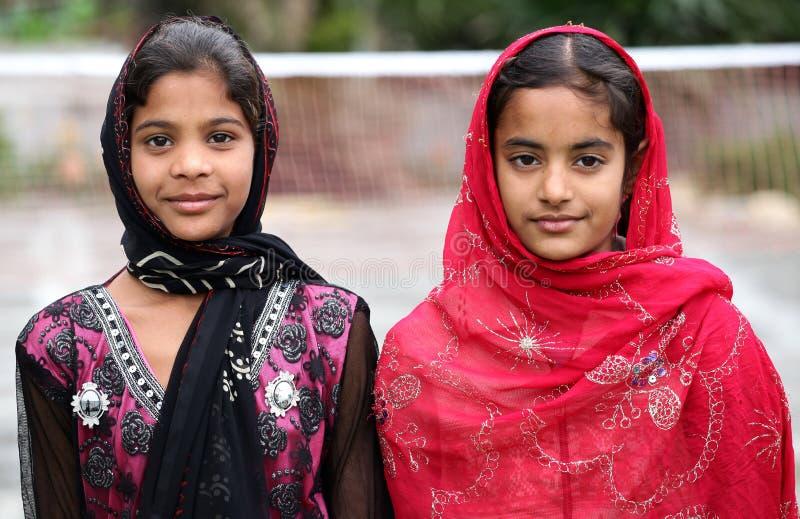 Muslim girls royalty free stock photos