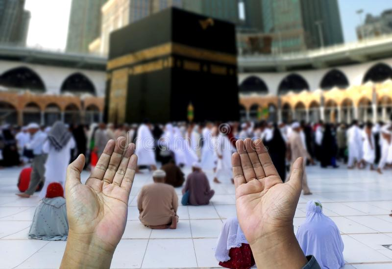 Muslim of islam praying hands. Concept stock image