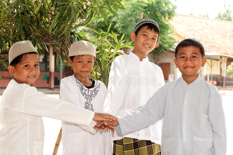 Muslim Kids, Friendship royalty free stock images
