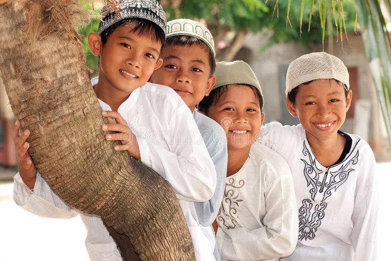 Muslim Kids, Friendship stock images